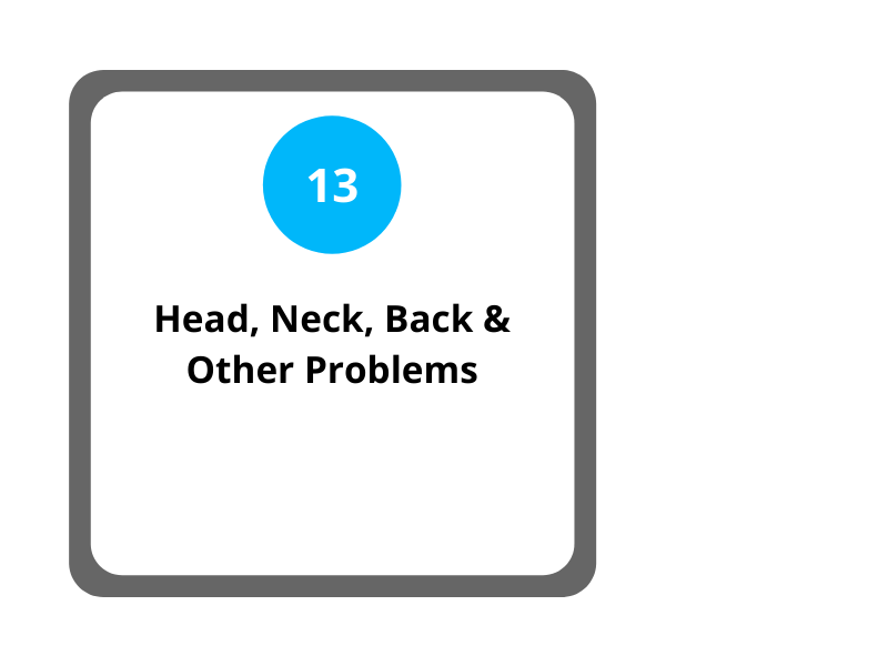Step 13 head, neck, back and other problems